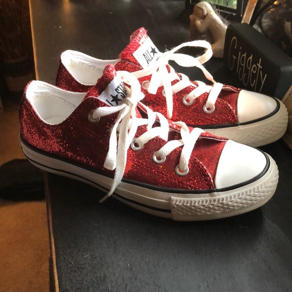 Converse Shoes | Ruby Red Sparkle